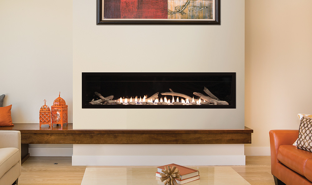 Boulevard vent free linear contemporary fireplace 60 for Contemporary ventless gas fireplaces